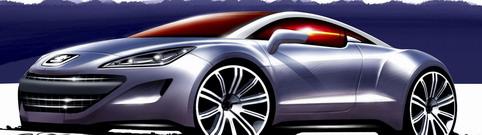 Photo de la Peugeot 308 RC Z Concept: dessins d'artiste